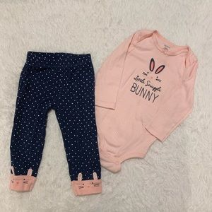 💥4for$20💥 Carters bunny outfit 18 months